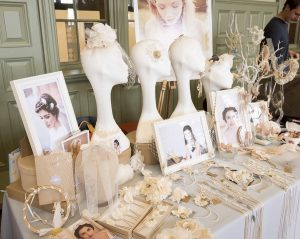 A beautiful selection of veils, fascinators, pendants and head-dresses.